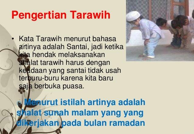 Pengertian Shalat Tarawih