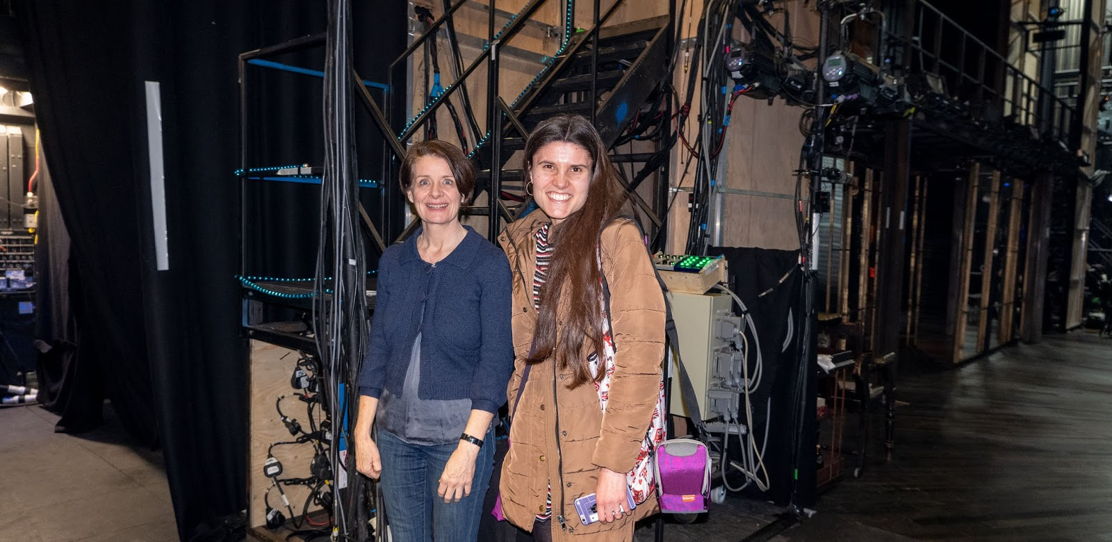 Kat Last and Company Manager Linda Fitzpatrick, backstage at The Marlowe Theatre on Measure For Measure opening night