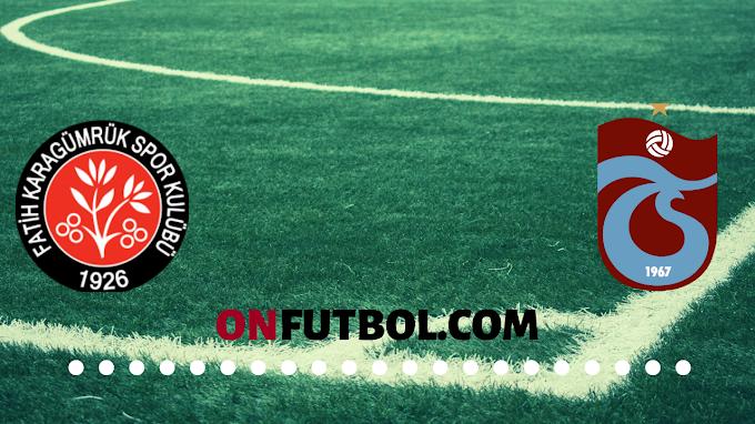 Fatih Karagümrük - Trabzonspor ÖZET 1-2