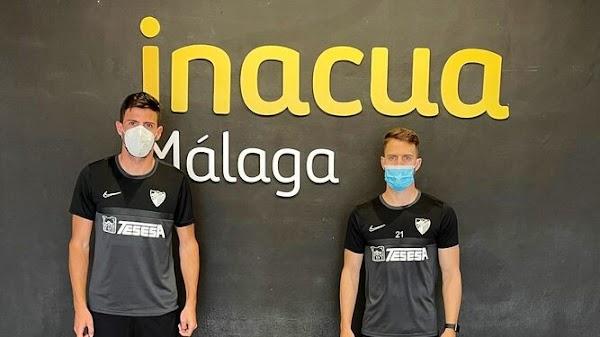 Málaga, Calero y Chavarría entrenan en el Inacua
