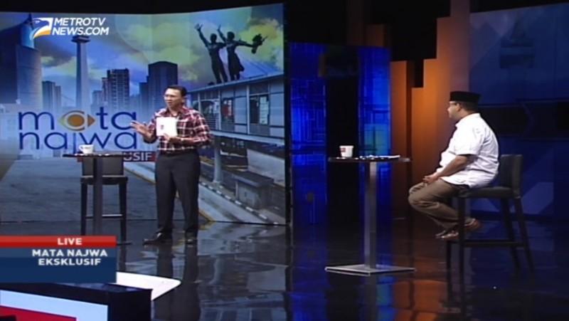 Debat Ahok dan Anies di acara Mata Najwa Metro TV