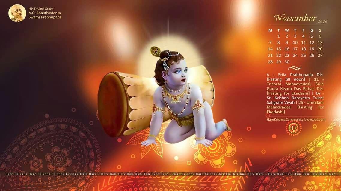 a47a69a20e03 Hare Krishna Community Jaipur  Vaishnava Calendar November 2016