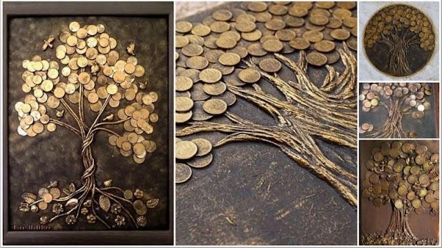 Διακοσμητικά Δέντρα από Νομίσματα