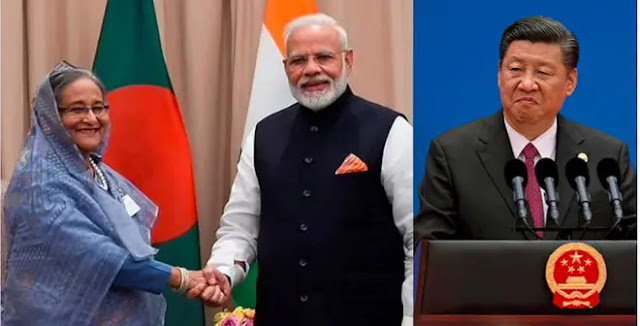 India is actively working with Bangladesh to weaken China's influence (Artwork)