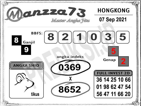 Bocoran Manzza73 HK Selasa