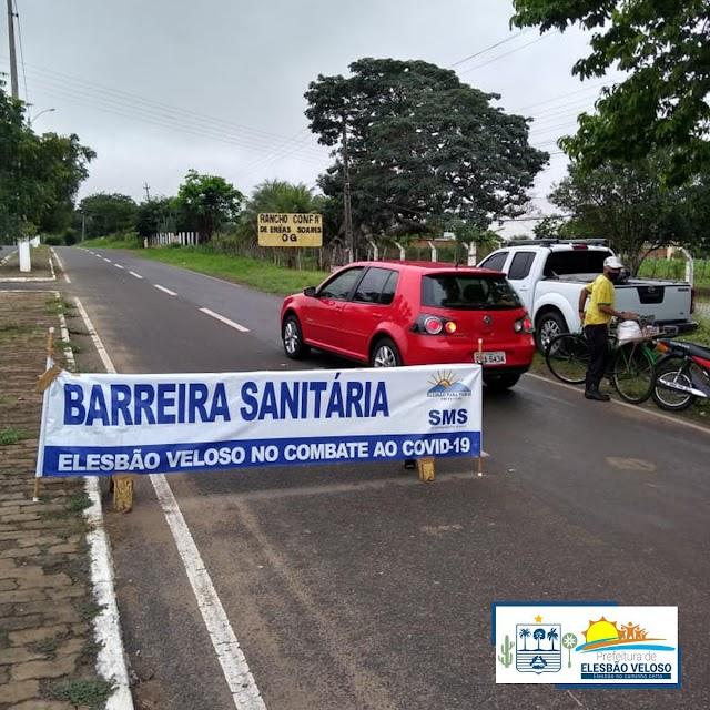 Elesbão Veloso: Para conter avanço da pandemia da Covid-19, barreiras Sanitárias são reativadas