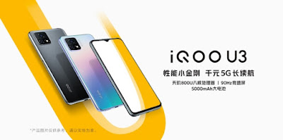 Vivo เปิดตัว iQOO U3 สมาร์ทโฟนระดับกลางพร้อมขุมพลัง Mediatek Dimensity 800U และหน้าจอ 90Hz