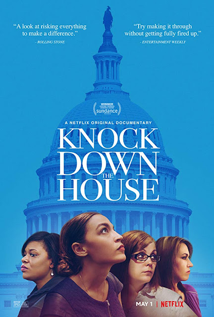 Movie poster for Artemis Rising, Atlas Films, Jubilee Films, and Netflix's 2019 documentary Knock Down the House, starring Alexandria Ocasio-Cortez, Cori Bush, Paula Jean Swearengin, and Amy Vilela