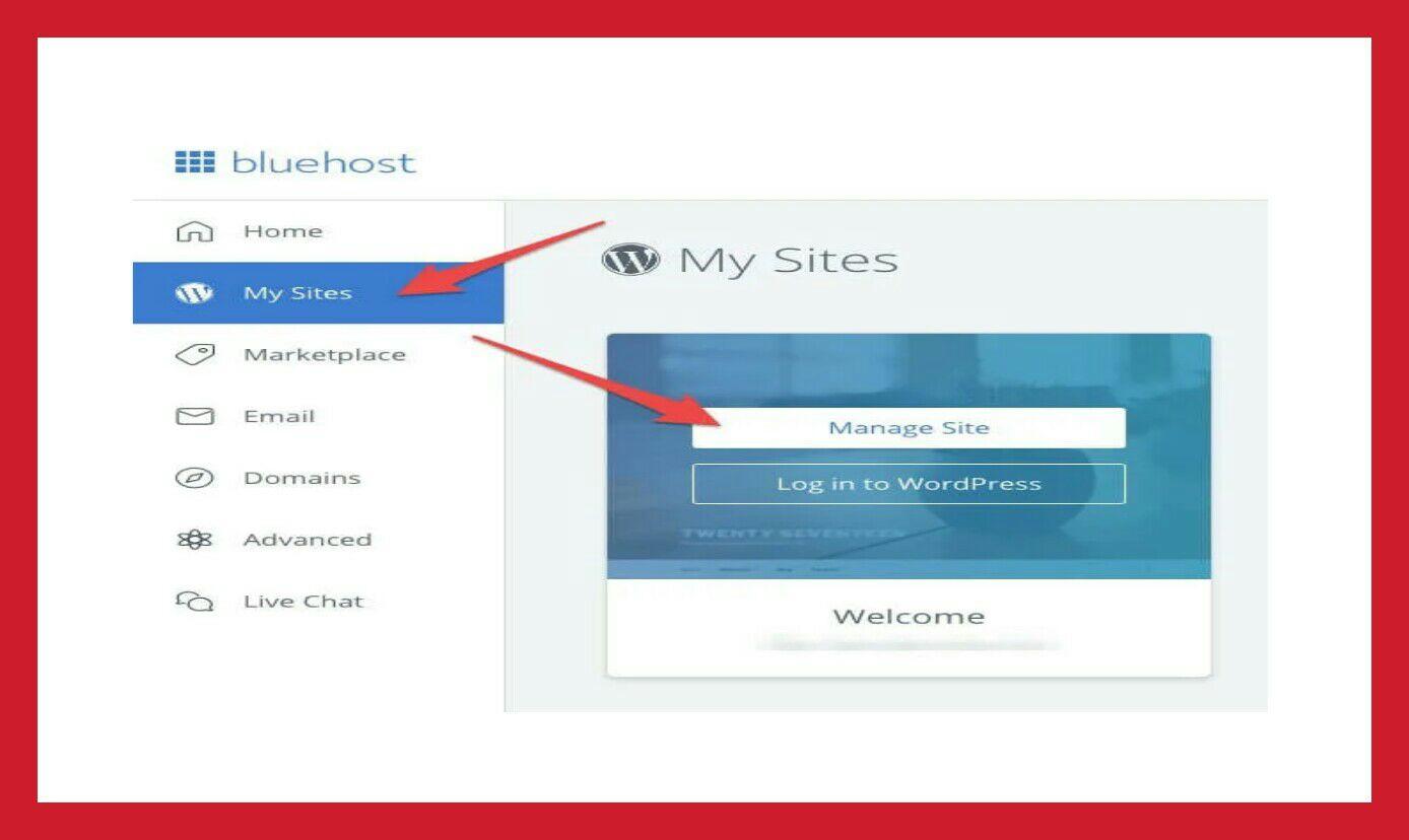 Manage wordpress site