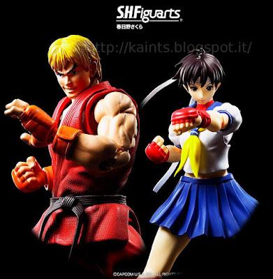 Ken Masters e Sakura Kasugano per la linea S.H. Figuarts della Bandai