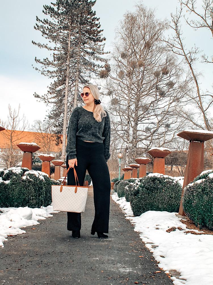 Bequemer und eleganter Winter Outfit Idee