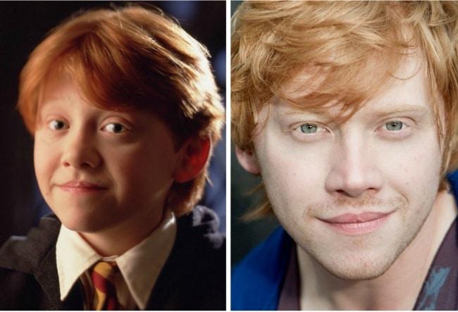 Ron Weasley interpretado por Rupert Grint