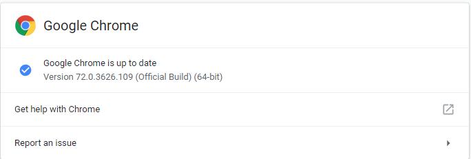 Google Chrome 72.0.3626.109