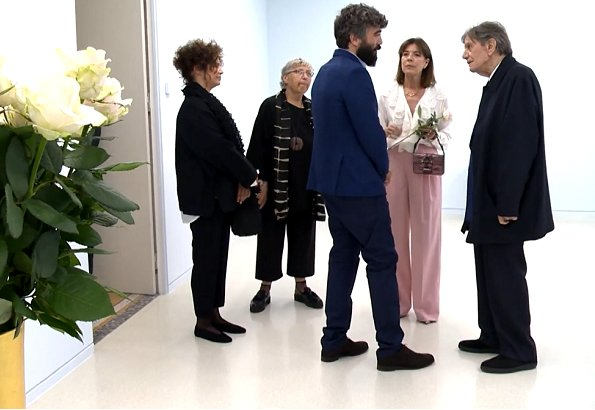 Princess Caroline of Hanover visited Ettore Spalletti's exhibition which is displayed at the New National Museum