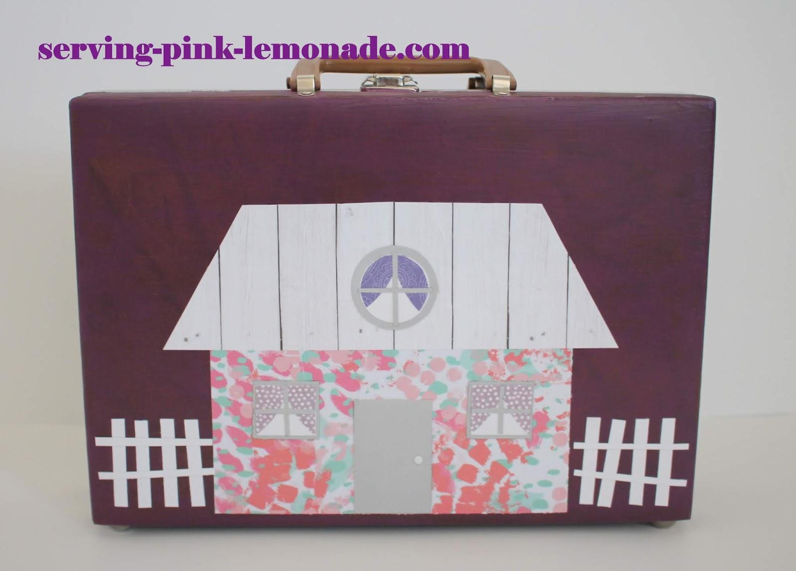 Serving Pink Lemonade Briefcase Doll House