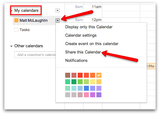 How To Share A Calendar In Google Apps Google Cloud Premier