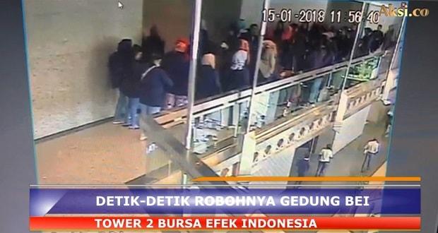 Detik-detik Robohnya Balkon Gedung BEI