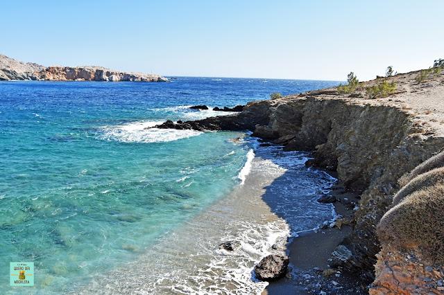 Playa Latinaki, isla de Folegandros (Grecia)