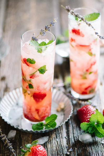 Honey Strawberry Mint Smash
