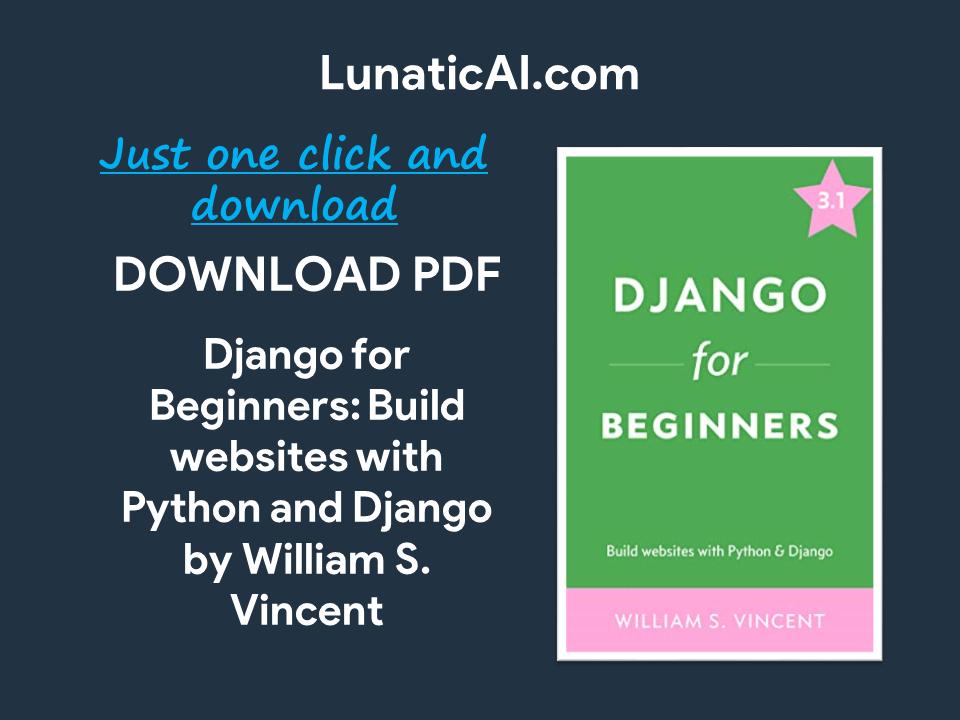 django for beginners pdf github