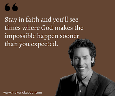 Joel Osteen Quotes on Faith