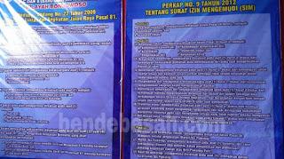Perkap No. 9 Tahun 2012 Tentang Surat Izin Mengemudi (SIM)