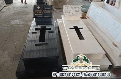Makam Pusara Granit Kristen | Model Makam Pusara Modern