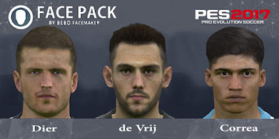 PES 2017 Facepack Dier & de Vrij & Correa by Bebo