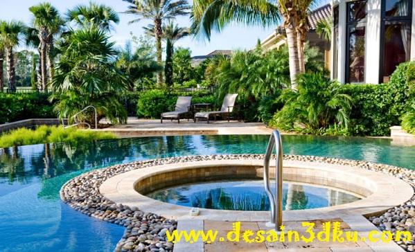 15 Desain Landscape Kolam Renang