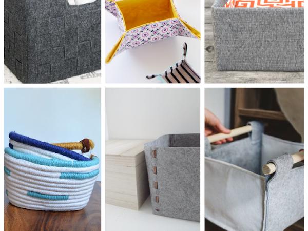 10+ Modern DIY Storage Bins