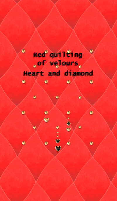 Red quilting of velours(Heart,diamond)
