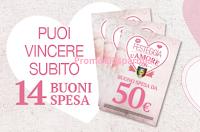 Logo Festeggia l'Amore e vinci buoni spesa da 50 euro, soggiorni e crociera Costa