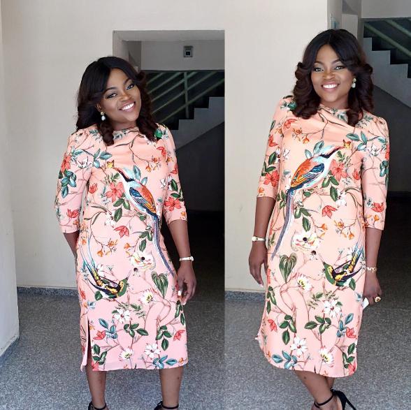 funke Photo: Funke Akindele steps out in Floral print dress