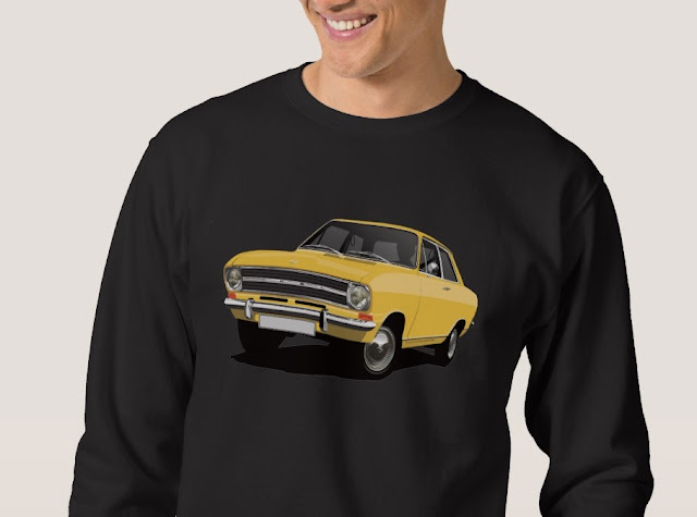 Retro Opel Kadett B Sedan shirts