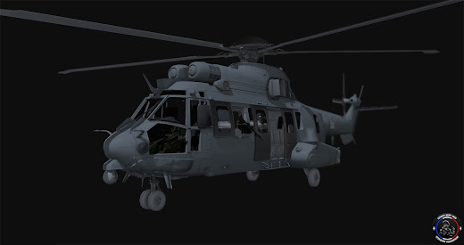 Arma3用フランス軍MODのEC 725 Caracal汎用ヘリコプター