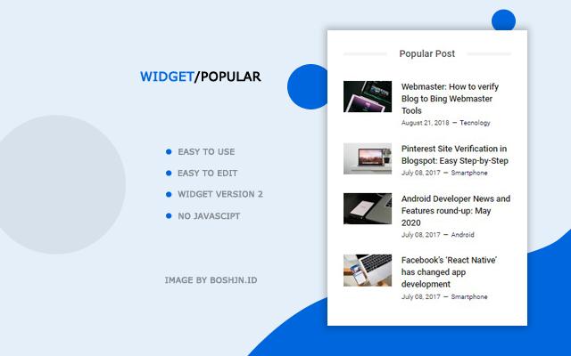 Belajar Memodifikasi Widget Popular Post Blogger