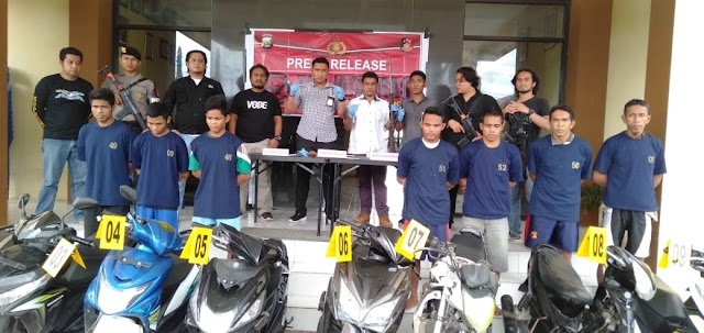 Bulan Desember, Polres Bima Kota Ungkap 7 Pelaku Kasus Curanmor