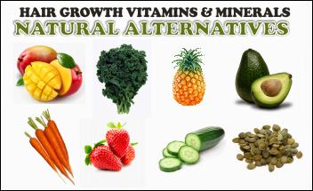 Thin Hair Growth vitamins and natural alternatives