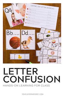 Still have students reversing their b's and d's, their p's and q's? This Letter Reversal Pack is just what you need to help fix letter confusion or letter reversals. Use these simple photo cards in your literacy centers to practice differentiating between the letters b/d and the letter p/q by using real life photos beginning with the same sounds as prompts. This pack includes some helpful handwriting sheets for letter recognition and sorting as well as practice writing correctly.