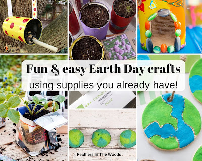 Easy recycled earth day crafts.
