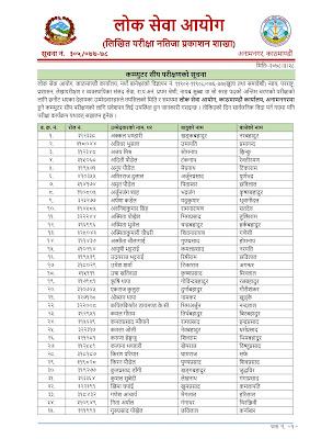 Lok Sewa Aayog Written Exam Result & Final Exam Routine