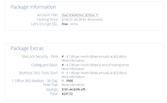 Pilih opsi hosting Anda