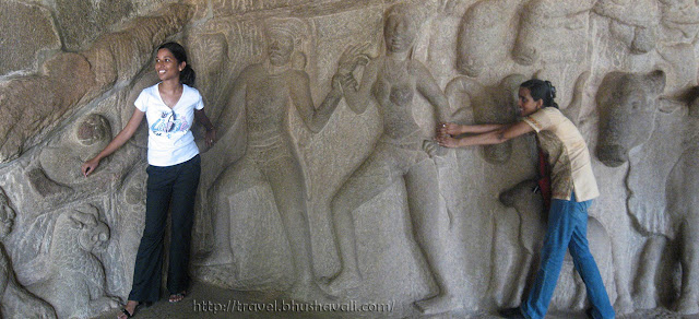 Funny pictures to shoot at Mahabalipuram