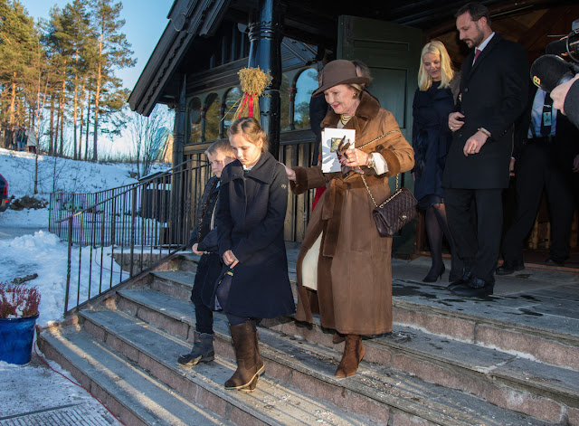 King Harald, Queen Sonja, Prince Haakon, Crown Princess Mette-Marit
