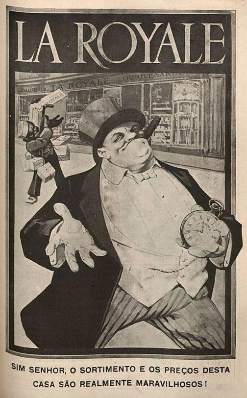 Propaganda antiga de 1915 da loja La Royale