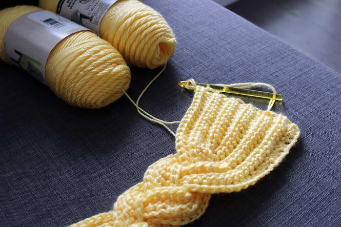 Rapunzel Braided Scarf Free Crochet Pattern