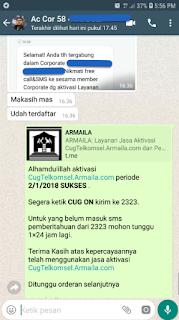 Testimoni CUG Telkomsel Kartu Pasangan Kartu Komunitas Kartu Soulmate Kartu Couple 2 Januari 2019