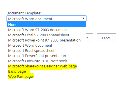 Sharepoint 2013 sharepoint online create multiple pages library we can select the page template while creating document library maxwellsz