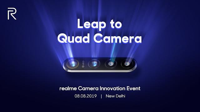 realme تستعد للكشف عن أول هاتف ذكي في العالم بكاميرا بدقة 64 ميجابكسل