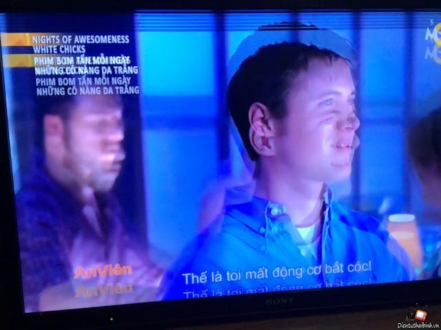 màn hình tivi sony bị chồng ảnh